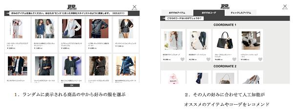 ・ファッション通販サイト「RyuRyu」内のサービスページ