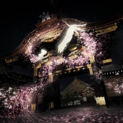 二条城で初! 桜×プロジェクションマッピングで最先端のお花見を体験しよう♪