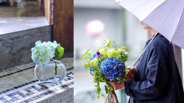 雨が多くなる季節だからこそ楽しみたい! 紫陽花モチーフの限定スイーツや、ブーケを作るイベントも♪